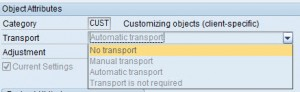 SOBJ - Automatic Transport and Current Setting